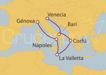 Crucero Italia, Grecia, Malta