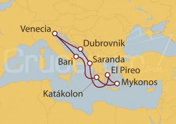 Crucero Italia, Grecia, Albania, Croacia