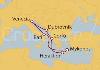 Crucero Grecia, Croacia, Italia