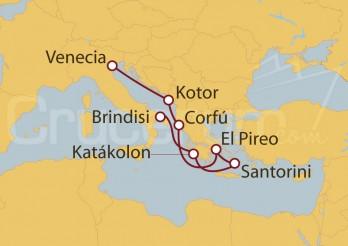 Crucero Brindisi (Italia), Grecia y Montenegro