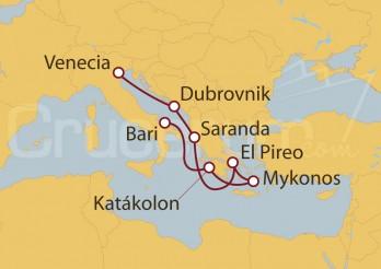 Crucero Italia, Grecia, Atenas, Albania, Croacia