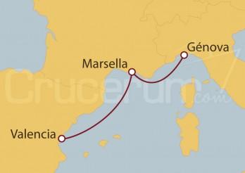 Crucero MiniCrucero 3 días: Valencia, Marsella y Génova