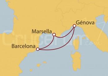 Crucero Minicrucero 4 días: Génova (Italia), Marsella y Barcelona
