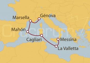 Crucero Génova (Italia), Marsella, Mahón y La Valletta