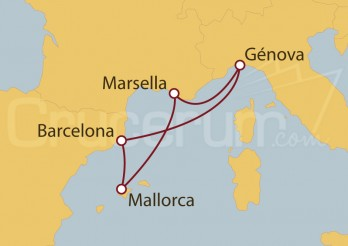 Crucero Minicrucero 5 días: Marsella, España y Génova