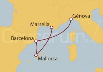Crucero Minicrucero 4 días: Marsella, Mallorca, Barcelona y Génova