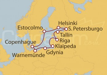 Crucero El Gran Viaje por los países nórdicos