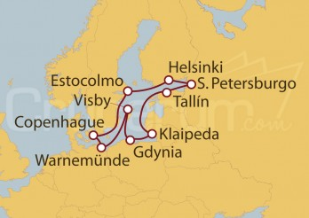 Crucero Gran viaje por los países nórdicos