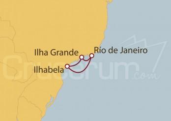 Crucero Río de Janeiro, Ilha Grande, Ilhabela (Brasil)