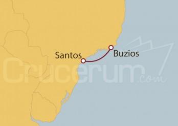 Crucero Santos, Buzios, Santos