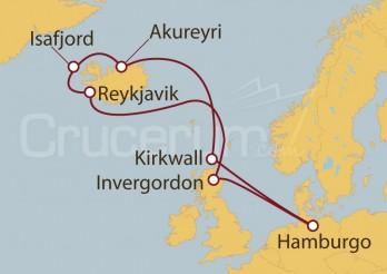 Crucero Alemania, Reino Unido, Islandia