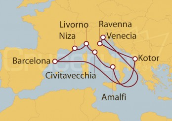 Crucero Barcelona, Italia, Roma y Mar Adriático