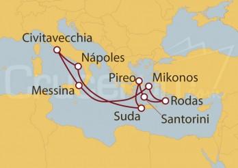 Crucero Civitavecchia (Roma), Sicilia, Grecia, Chania y Nápoles