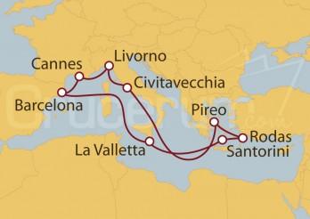 Crucero Barcelona, Francia, Florencia, Roma, Grecia, Malta