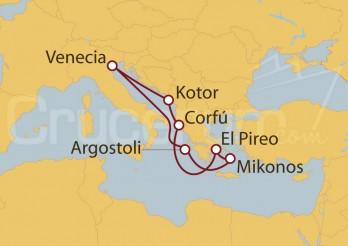 Crucero Venecia, Montenegro, Grecia