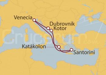 Crucero Venecia, Croacia, Montenegro y Grecia