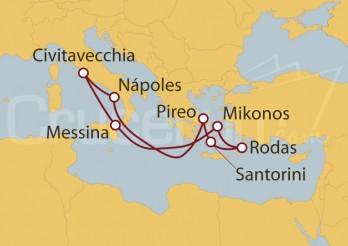 Crucero Civitavecchia (Roma), Sicilia, Grecia, Nápoles