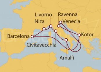 Crucero Barcelona, Niza, Italia, Roma, Venecia, Montenegro