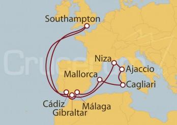 Crucero Southampton (UK), España, Baleares, Francia y Cerdeña