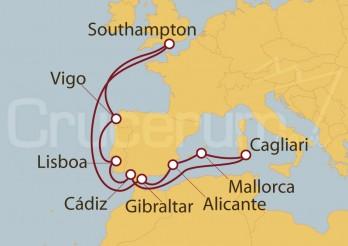 Crucero Southampton (UK), España, Cerdeña y Lisboa