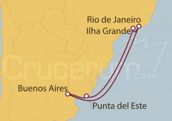 Crucero Río de Janeiro (Brasil), Buenos Aires, Punta del Este y Ilha Grande