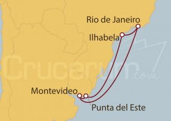Crucero Brasil, Uruguay