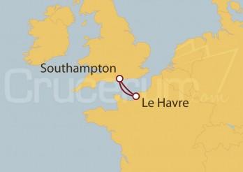 Crucero Minicrucero 3 días: Southampton (UK), Le Havre