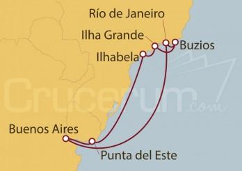 Crucero Argentina, Uruguay, Brasil