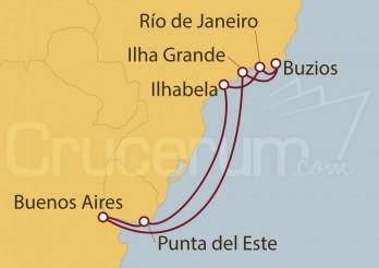 Crucero Buenos Aires (Argentina), Uruguay y Brasil