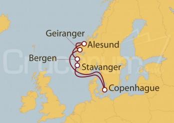 Crucero Copenhague (Dinamarca), Noruega