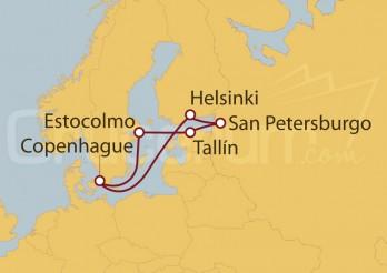 Crucero Copenhague (Dinamarca), Suecia, Estonia, Rusia, Finlandia