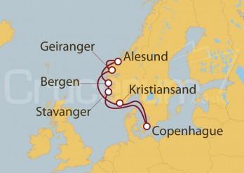 Crucero Noruega desde Copenhague