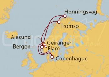 Crucero Copenhague (Dinamarca), Noruega, Tromso, Honningsvag, Bergen