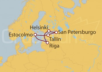 Crucero Mar Báltico desde Estocolmo
