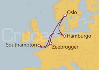 Crucero Southampton (UK), Alemania, Noruega, Bélgica
