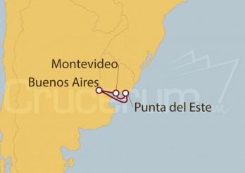 Crucero Argentina, Uruguay
