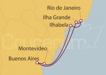 Crucero Uruguay, Argentina, Brasil