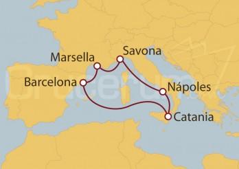Crucero España, Francia, Italia