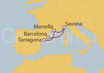 Crucero España, Francia, Italia II