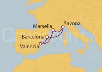 Crucero España, Francia, Italia I