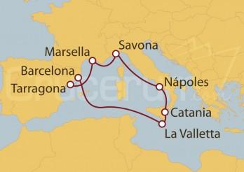 Crucero España, Francia, Italia, Malta