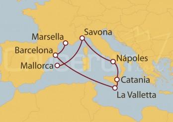 Crucero Islas Baleares, España, Italia, Malta, Francia