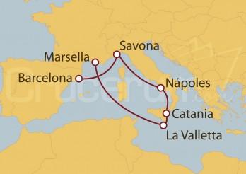 Crucero España, Italia, Malta y Francia