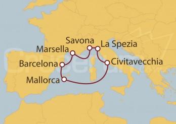 Crucero España, Francia, Italia, Islas Baleares