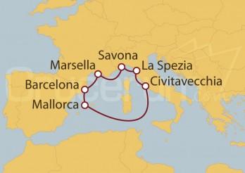 Crucero Islas Baleares, España, Francia y Italia