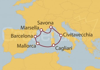 Crucero Islas Baleares, Italia, Francia y España