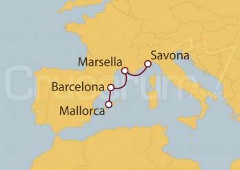Crucero Italia, Francia, España y  Baleares