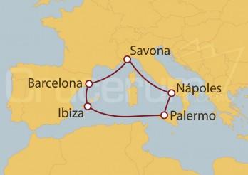 Crucero Italia, Islas Baleares, España