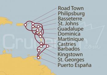Crucero Martinica, Guadalupe, Santa Lucía, Barbados, Trinidad y Tobago, Granada, San Vicente y las Granadinas