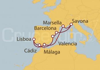 Crucero España, Italia, Francia, Portugal